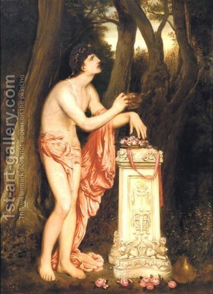 An Offering by Simeon Solomon - Reproduction Oil Painting