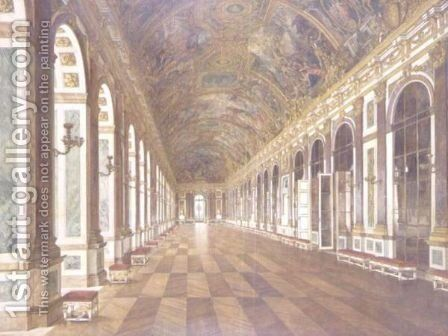 The Hall Of Mirrors, Palace Of Versailles by Carl Karger - Reproduction Oil Painting