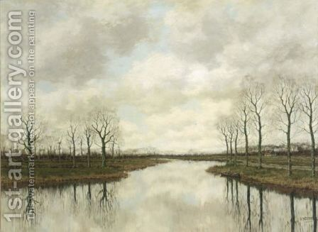 An Autumn Landscape by Arnold Marc Gorter - Reproduction Oil Painting