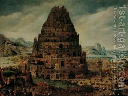 The Tower Of Babel 2 by (after) Abel Grimmer - Reproduction Oil Painting