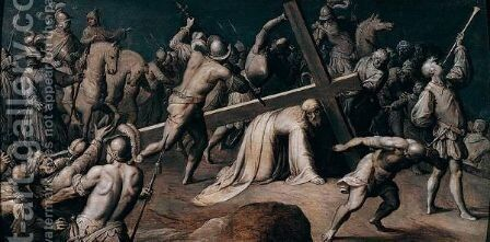 Christ On The Road To Calvary 2 by (after) Frans II Francken - Reproduction Oil Painting
