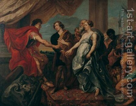 The Continence Of Scipio by Jan van Boeckhorst - Reproduction Oil Painting