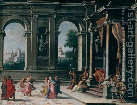 Esther And Ahasuerus by Alberto Carlieri - Reproduction Oil Painting
