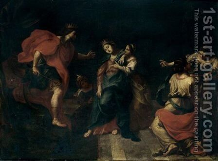Esther And Ahasuereus by (after) Giovanni Gioseffo Da Sole - Reproduction Oil Painting
