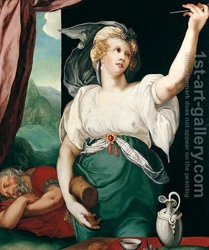 Jael And Sisera by (after) Hendrick Goltzius - Reproduction Oil Painting