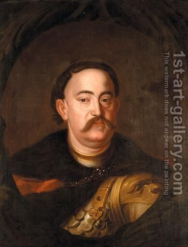 Portrait Of John Sobieski III Of Poland (1629 - 1696) by (after) Jan Tricius - Reproduction Oil Painting