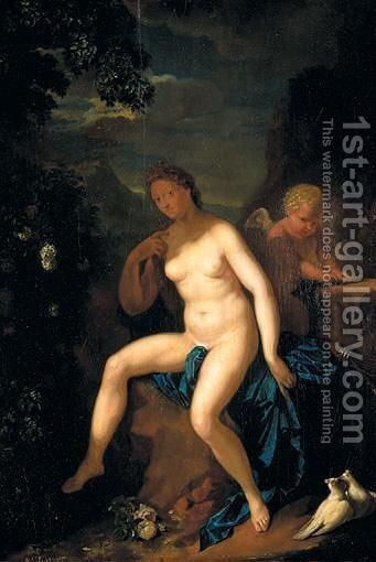 Venus And Cupid by (after) Adriaen Van Der Werff - Reproduction Oil Painting