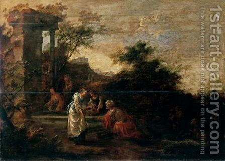 Rebecca And Eliezer At The Well by Jan Snellinck - Reproduction Oil Painting