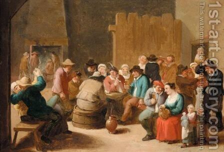 A Tavern Scene by Matheus van Helmont - Reproduction Oil Painting