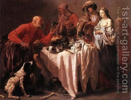 Jacob Reproaching Laban 1628 by Hendrick Terbrugghen - Reproduction Oil Painting