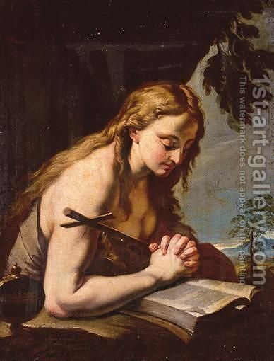 The Penitent Magdalene by (after) Francesco Trevisani - Reproduction Oil Painting