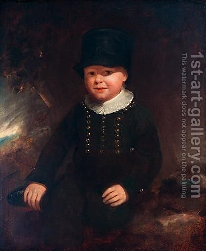 Portrait Of Harry Vint by (after) William Redmore Bigg - Reproduction Oil Painting