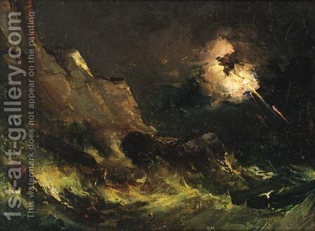 A Storm At Sea by (after) Francis Danby - Reproduction Oil Painting