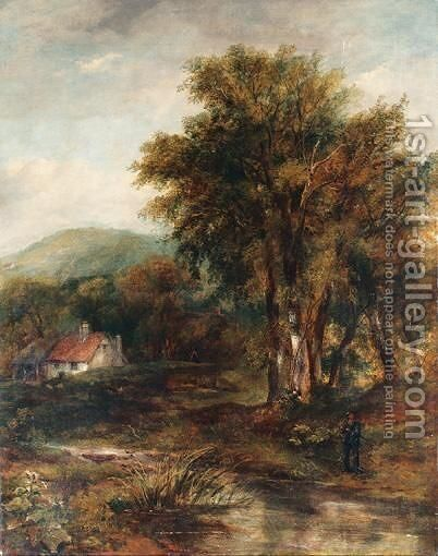 The Bridge Of Bracklinn by (after) Patrick Nasmyth - Reproduction Oil Painting