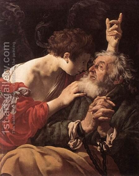 The Deliverance of St Peter by Hendrick Terbrugghen - Reproduction Oil Painting