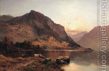 Near Inversnaid by Alfred de Breanski - Reproduction Oil Painting