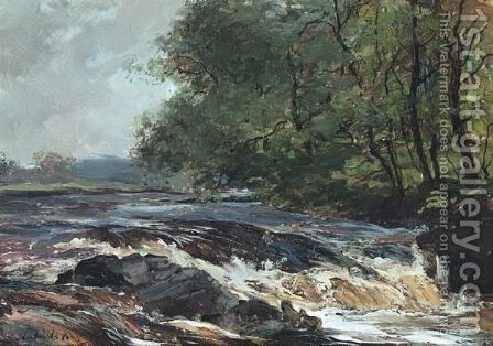 The Falls Of Dochart, Killin, Perthshire by Archibald Kay - Reproduction Oil Painting