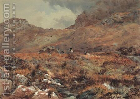 Sheep Resting In A Grouse Moor by Archibald Thorburn - Reproduction Oil Painting