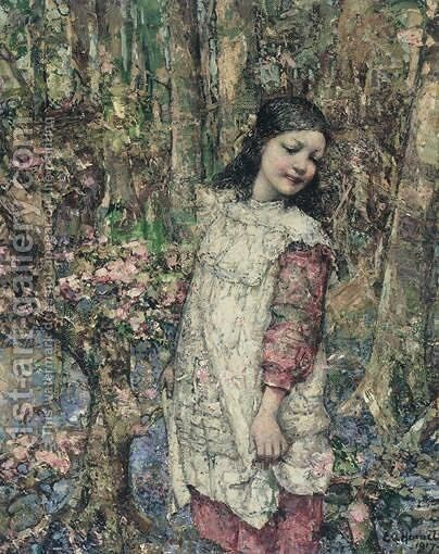 Spring by Edward Atkinson Hornel - Reproduction Oil Painting