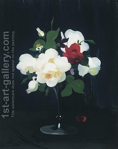 Still Life Of Roses by James Stuart Park - Reproduction Oil Painting