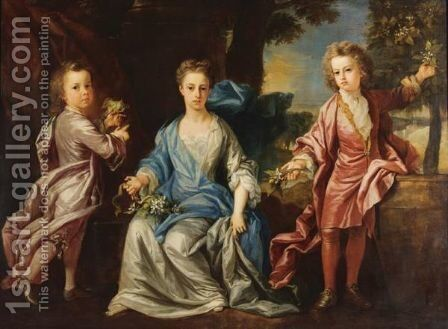 Portrait Of The Children Of The Dashwood Family by Johann Closterman - Reproduction Oil Painting