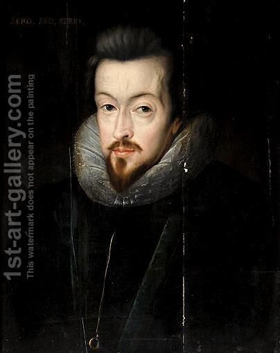 Portrait Of Robert Cecil, 1st Earl Of Salisbury (1563-1612) by (after) John De Critz - Reproduction Oil Painting