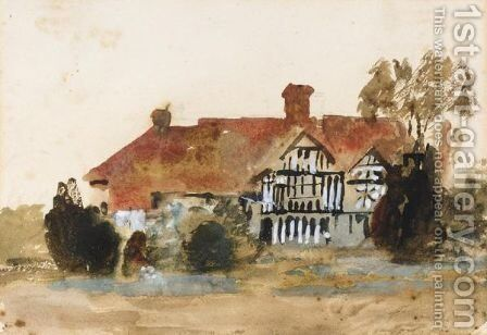 Study Of A Country House by Hercules Brabazon Brabazon - Reproduction Oil Painting