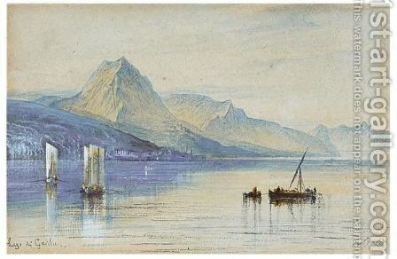 Lake Garda, Italy by Edward Lear - Reproduction Oil Painting