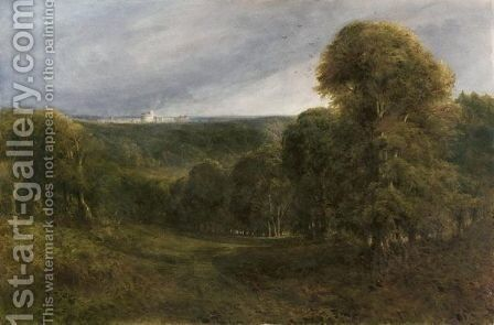 View At Windsor by Bernard Walter Evans - Reproduction Oil Painting