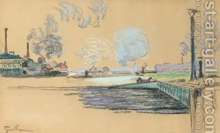 La Seine A Ivry by Armand Guillaumin - Reproduction Oil Painting
