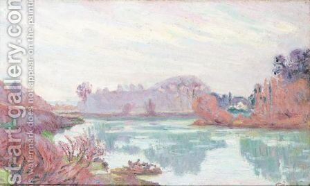 Bords De La Marne, En Hiver by Armand Guillaumin - Reproduction Oil Painting