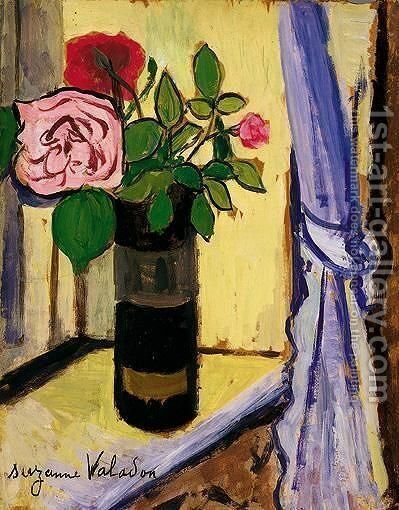Bouquet De Roses Dans Un Obus by Suzanne Valadon - Reproduction Oil Painting