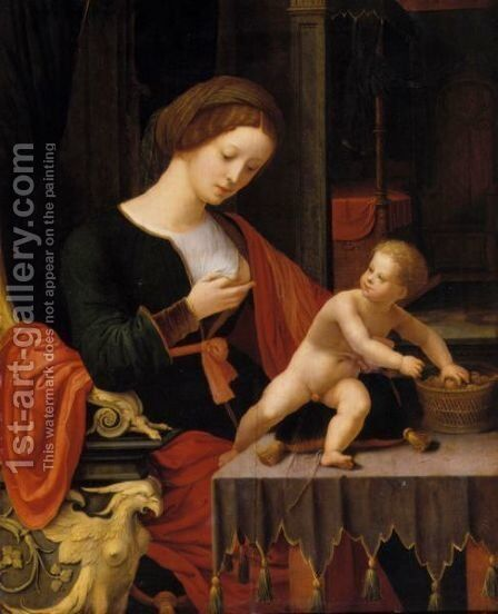 Virgin And Child by Italian Unknown Master - Reproduction Oil Painting