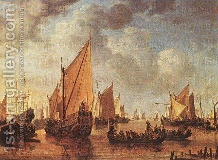 Visit of Frederick Hendriks II to Dordrecht in 1646,  1649 by Simon De Vlieger - Reproduction Oil Painting