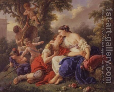 Rinaldo And Armida by (after) Louis Lagrenee - Reproduction Oil Painting