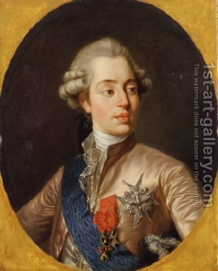 Portrait Of The Comte D'Artois by (after) Duplessis, Joseph-Siffrede - Reproduction Oil Painting