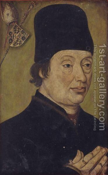 Portrait Of A Man, Said To Be Jean De Bourgogne by Burgundian School - Reproduction Oil Painting