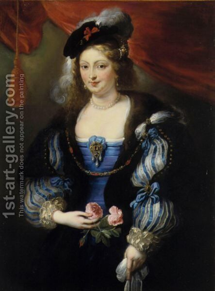 Portrait Of A Lady, Said To Be Helena Fourment by (after) Sir Peter Paul Rubens - Reproduction Oil Painting