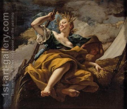 Ceres (Allegory Of Summer) by (after) Bartolomeo Guidobono - Reproduction Oil Painting