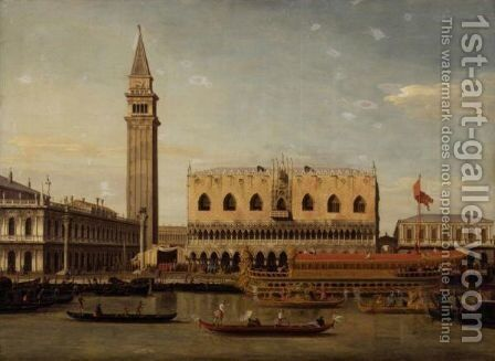 The Bucintoro At The Molo On Ascension Day, Venice by (after) (Giovanni Antonio Canal) Canaletto - Reproduction Oil Painting