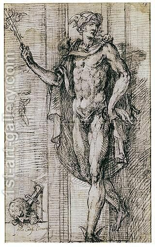 Mercury by Giulio Campi - Reproduction Oil Painting