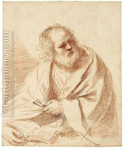 St. Peter by Giovanni Francesco Guercino (BARBIERI) - Reproduction Oil Painting