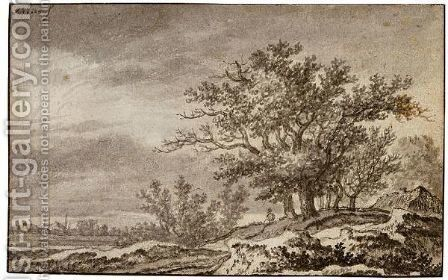 Dune Landscape With A Clump Of Trees And A Cottage by Adriaen Hendricksz Verboom - Reproduction Oil Painting