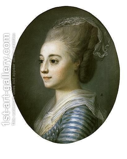 Portrait Of A Woman by (after) Elisabeth Vigee-Lebrun - Reproduction Oil Painting