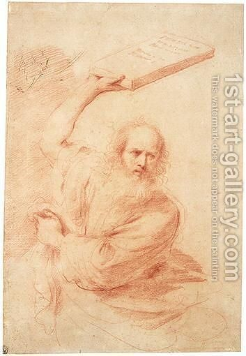 Moses by Giovanni Francesco Guercino (BARBIERI) - Reproduction Oil Painting