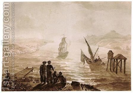 View Of The Bosphorus Looking Towards The Black Sea by Achille-Etna Michallon - Reproduction Oil Painting