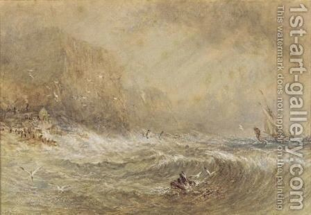 The Rough Seas by (after) Cox, David - Reproduction Oil Painting