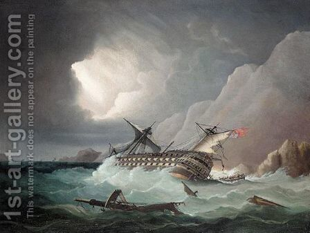 The shipwreck by (after) Thomas Buttersworth - Reproduction Oil Painting