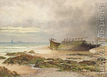 Cullercoats bay, Northumberland by Bernard Benedict Hemy - Reproduction Oil Painting