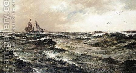 Ocean scene by Charles Napier Hemy - Reproduction Oil Painting